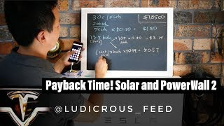 Payback Time for Tesla PowerWall2 and 5kW Solar Array