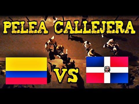 Colombianos VS Dominicanos (pelea callejera en Santa Coloma de Gramanet)