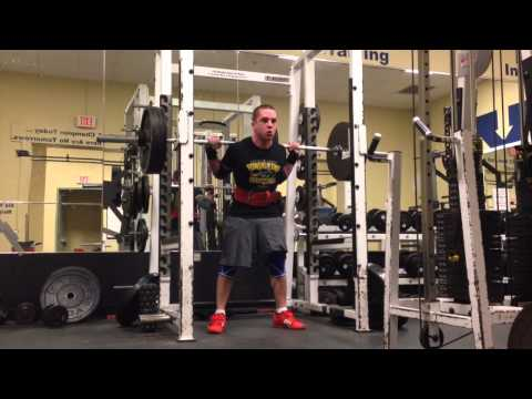 4 weeks out squat powerlifting workout Image 1