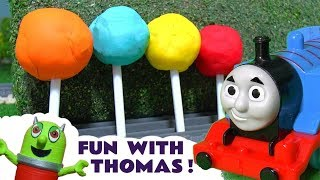 Fun with Thomas The Tank Engine, Play Doh Lollipops and the funny Funlings at McDonalds TT4U