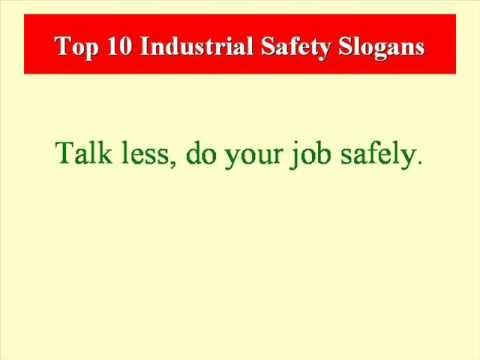 top 10 industrial safety slogans   youtube