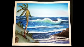 No Storm on the horizon | Acrylic Painting | Inspired by Bob Ross.....