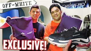 LUXURY MALL in MANILA PHILIPPINES! Off-White, Balenciaga with Carlo Ople!