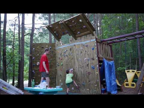 Backyard Climbing Wall