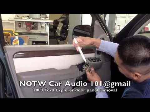 How To Remove 2003 Ford Explorer Door Panel Youtube