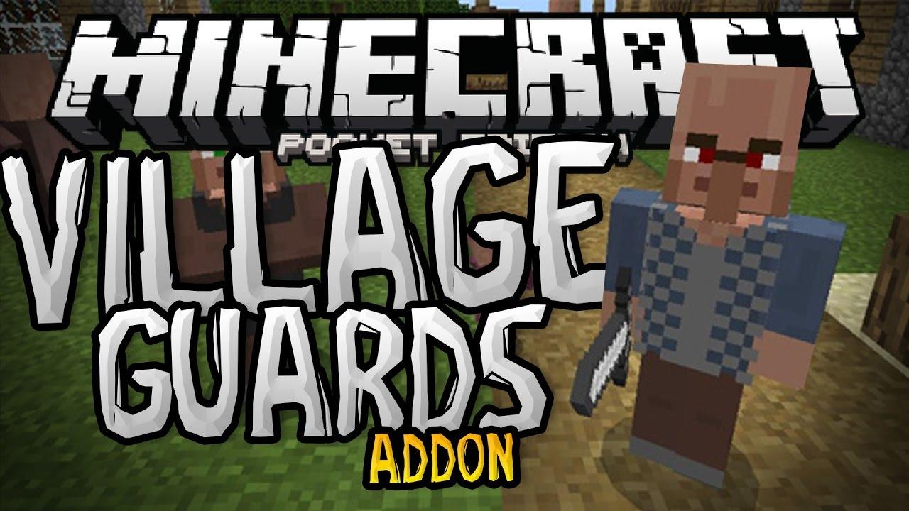 VILLAGE GUARDS in MCPE!!! - 0.16.0 Addon - Minecraft PE (Pocket Edition)