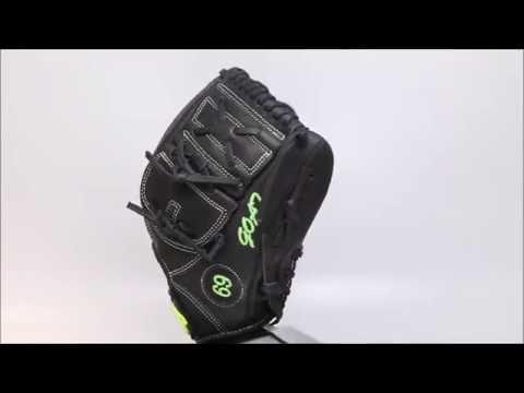 44 Pro Custom Baseball Glove Classic Series 2 ( C2 ) Black Volt Green Two Piece