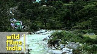 Nandgiri River flowing through Ghat village Chamoli Uttarakhand