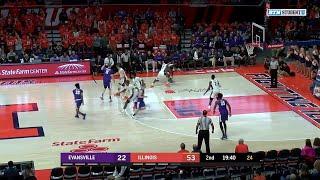 Highlights: Evansville at Illinois   Big Ten Basketball