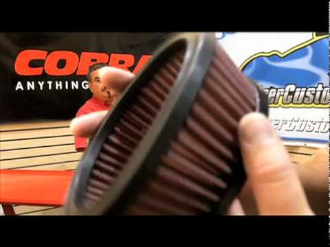 Cobra Powrflo Motorcycle Air Intake Kit  - Cruiser Customizing Video