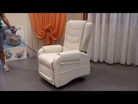 poltrona elettrica Michela, 2 motori, alzapersona reclinabile prezzo offerta