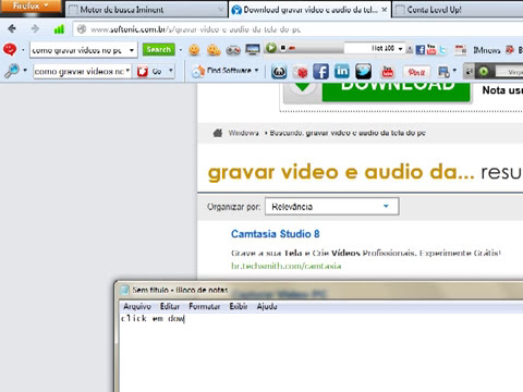 Baixando gravador de video para pc