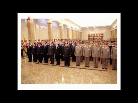 Evening news and new year program on North Korean TV, January 1 2016