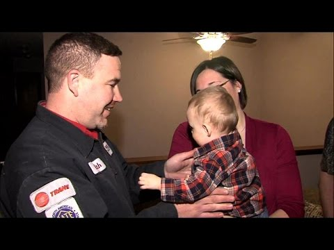 Star City Heating Gives Furnace Away To Family In Need