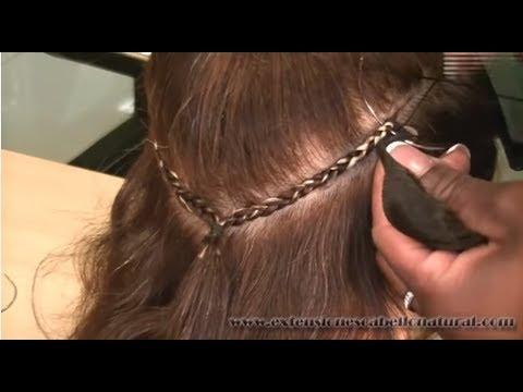 Como se colocan las extensiones sin dañar el pelo. Metodo Novedoso y efectivo.