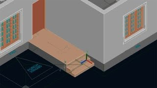 AUTOCAD 3D HOUSE  PART4  -  FOUNDATION,FLOOR AND STEPS
