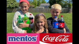 Experiment: Mentos vs Coke (Coca Cola) Explosion Challenge [Crazy Kidz TV]