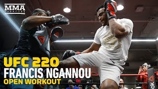 UFC 220: Francis Ngannou Open Workout (Complete) - MMA Fighting
