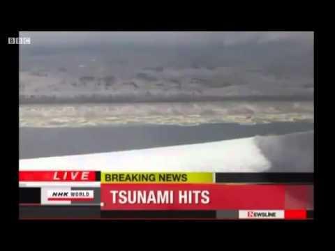Большая волна цунами в Японии - Big Tsunami Wave In Japan 2011