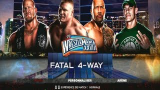 WWE13 l The Rock vs Stone Cold vs Brock Lesnar vs