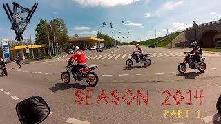 MOTO SEASON 2014. Part 1. Husqvarna. Moscow