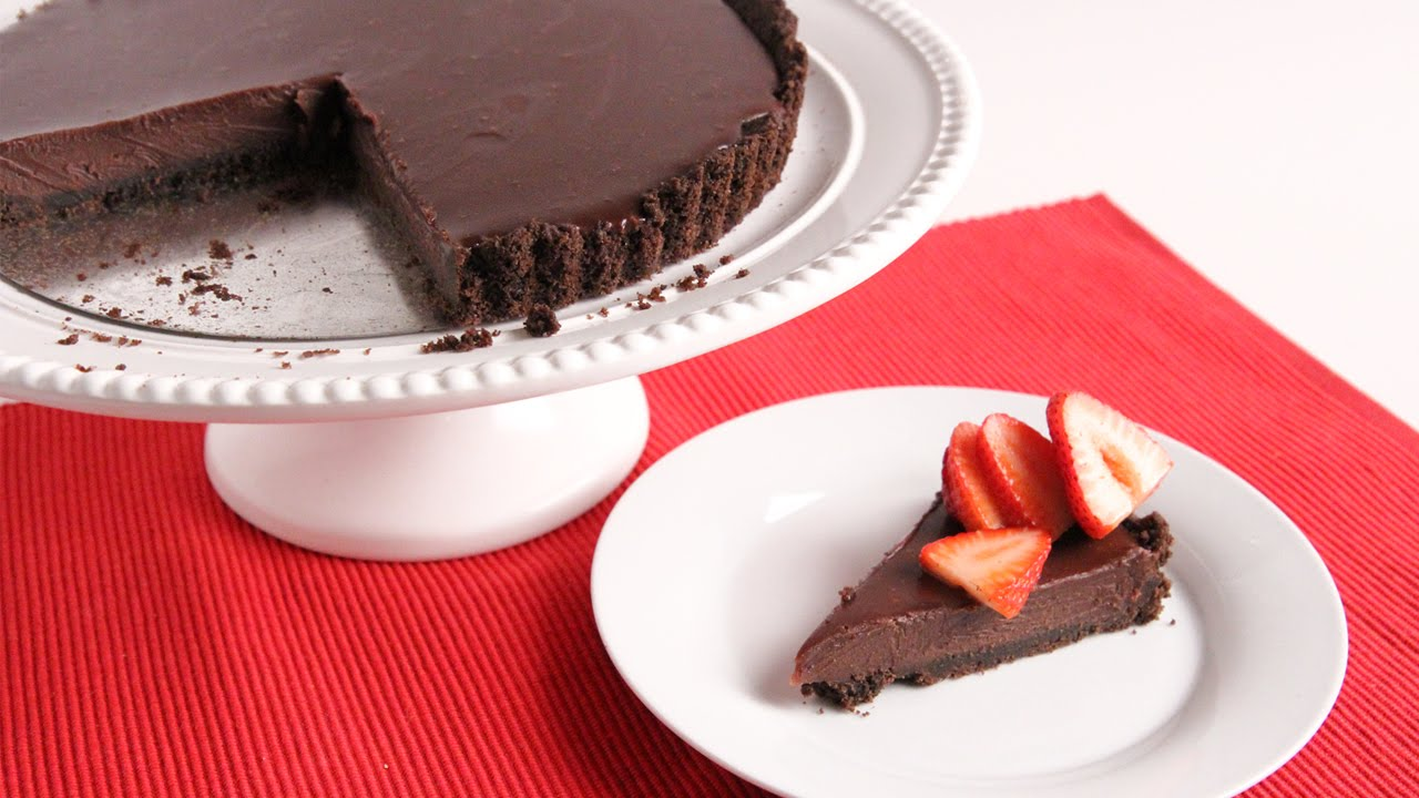 Chocolate Ganache Tart Recipe - Laura Vitale - Laura in the Kitchen ...