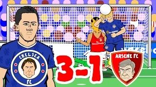 🎤CHELSEA 3 1 ARSENAL   the SONG🎤 2017 Stamford Bridge Hazard Goal, Alonso, Giroud, Fabregas