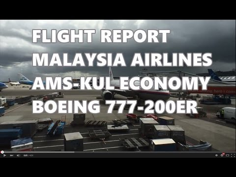 Flight Report | Malaysia Airlines Economy B777-200ER AMS-KUL [HD]