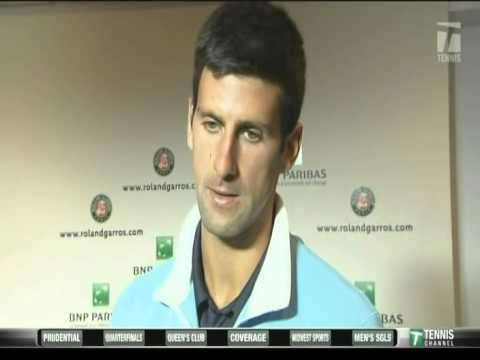 Novak Djokovic and Milos Raonic interviews 2014