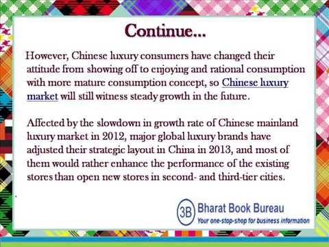 China Luxury Apparel and Accessories Market Report, 2012 2015