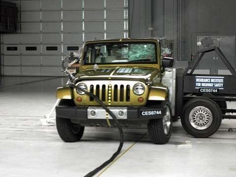 2008 Jeep Wrangler 4 Door Side Iihs Crash Test Youtube