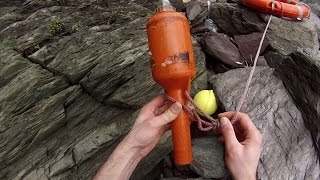 Life Ring With Emergency Beacon Found with Message In A Bottle