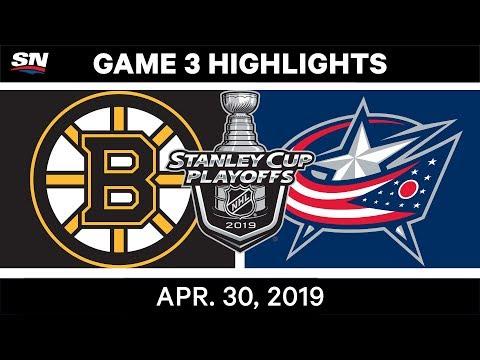 NHL Highlights | Bruins Vs. Blue Jackets, Game 3 - April 30, 2019