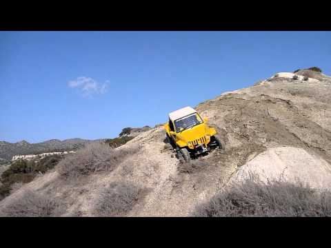 harpas atv difficult climb with gsmoon 800 mini jeep