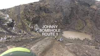 BACK COWM QUARRY ENDURO PRACTICE DAY WITH KTM FORUM LADZ - BIT OF BOMBHOLE & LEAP OF FAITH