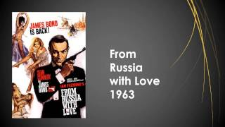 List of all 26 james bond movies tittle and posters