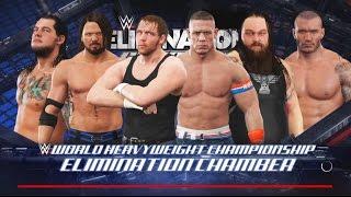 WWE 2K17- WWE World Heavy Weight Championship Elimination Chamber Match 2017 (PS4)