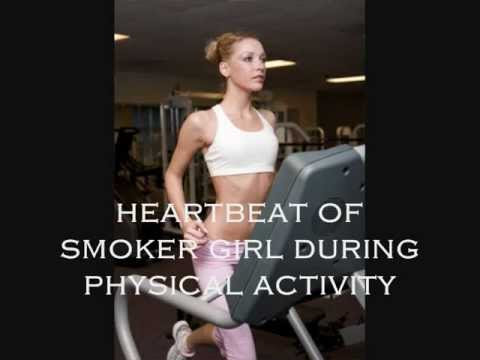 Fast Heartbeat of Smoker Girl during intense physical activity