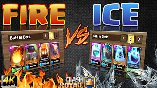 Clash Royale - Which deck wins? *FIRE V's ICE*!