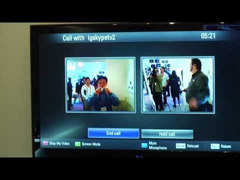 LG CES 2010: Skype on LG TV