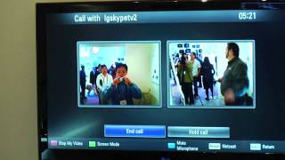 LG CES 2010_ Skype on LG TV