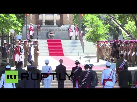 Spain: Spanish armed forces parade in front of King Felipe VI