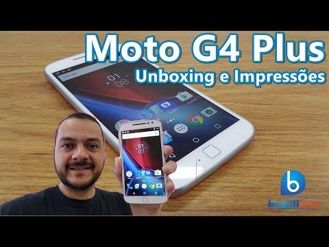 Moto G4 Plus Branco! Tela Full HD E Sensor De Digitais!  Unboxing E Impressões Em Português