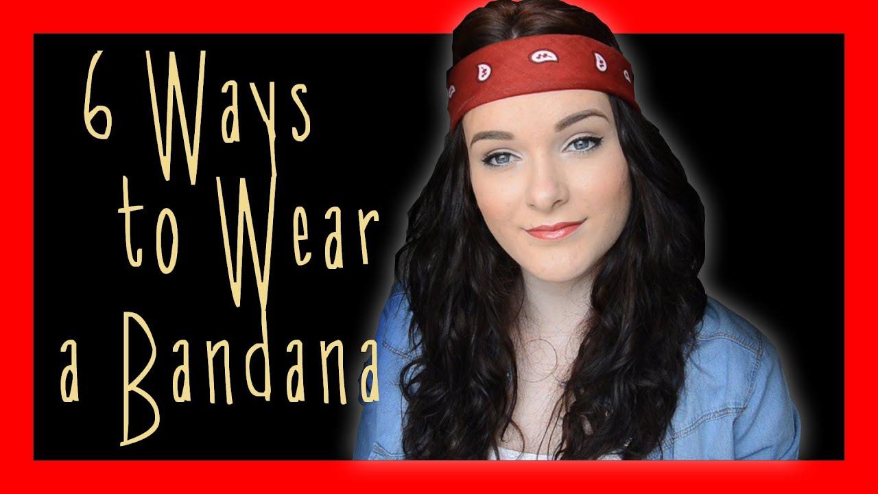 6 Ways To Wear A Bandana Ohhitsonlyalice Youtube