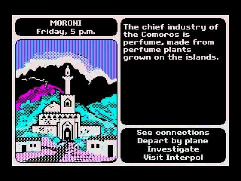 DOS Game Where In The World Is Carmen Sandiego 1985