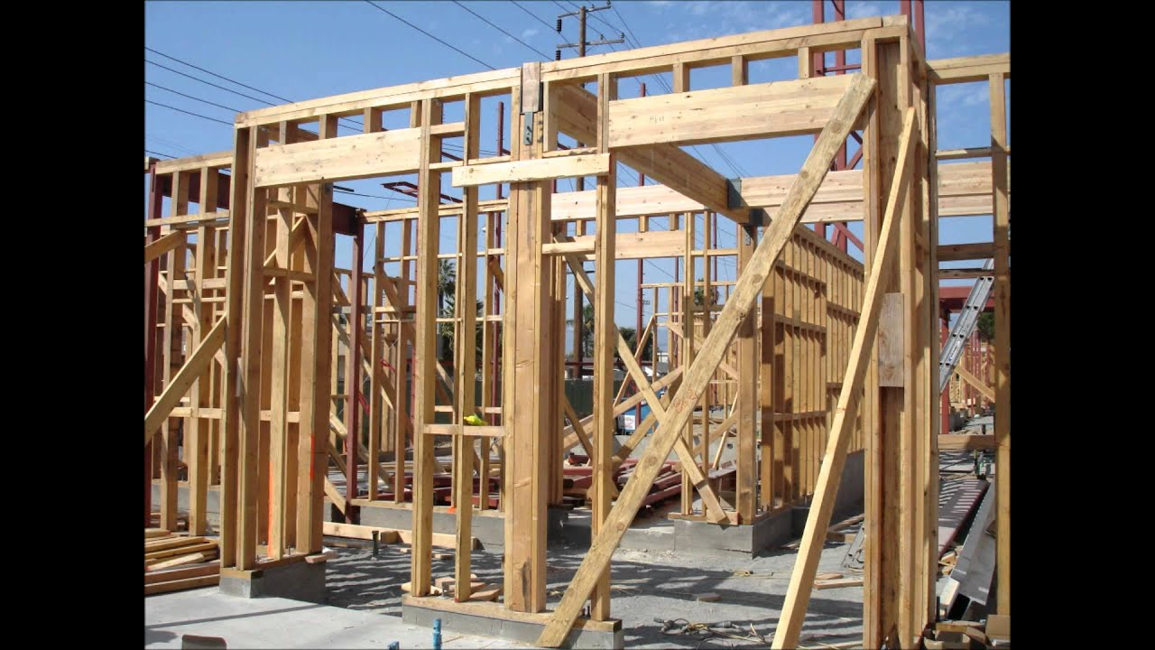 Structural Steel Erection Wood Framing Youtube