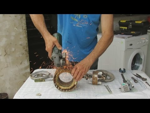 Construccion de un Generador Electrico Casero.----How to Make a Homemade Electric Generator