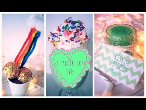 ♥ DIY St. Patrick's Day DIYs- Treats, Shamrocks Shakes & Photoprops ♥