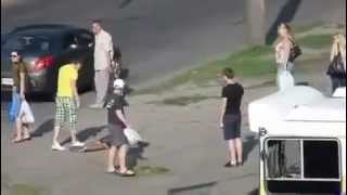 Drunk man Knocked out in 1 punch !