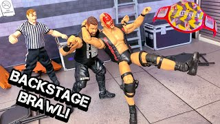 STONE COLD STEVE AUSTIN VS KEVIN OWENS BACKSTAGE BRAWL HARDCORE CHAMPIONSHIP ACTION FIGURE MATCH!